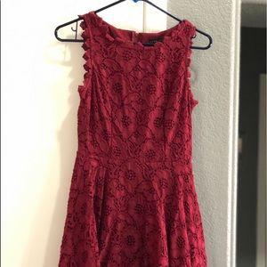 Cute burgundy cocktail dress